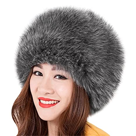 7ee00dfb1bee35 Amazon.com : Miki Da Unisex NEW Winter Warm Faux Rabbit Fur Hat Russian  Style Mens Womens Cossack Caps Fluffy Beanies Mink Fur Skullies 03 : Sports  & ...