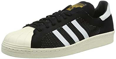 adidas Superstar 80S Prime, Baskets Basses Mixte Adulte, Noir (Black/White Mesh), 47 1/3 EU