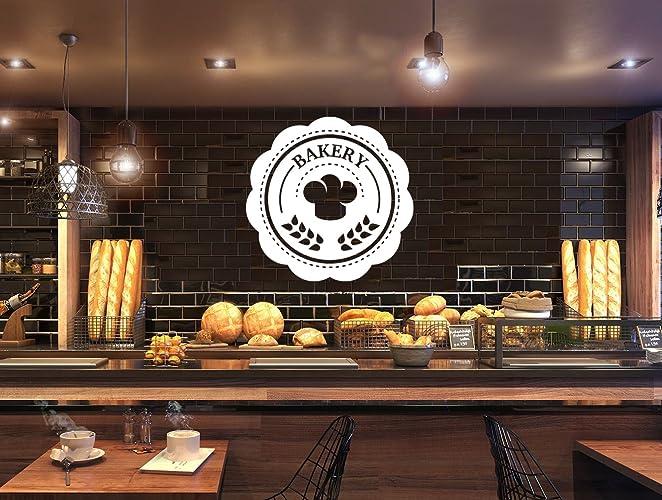 Amazon Com Bakery Shop Logo Write Your Bakery Name Bakeshop Kitchen