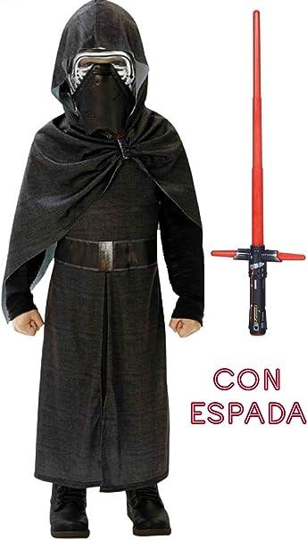 Disfraz de kylo Ren deluxe con espada 9 a 10años: Amazon.es: Ropa ...