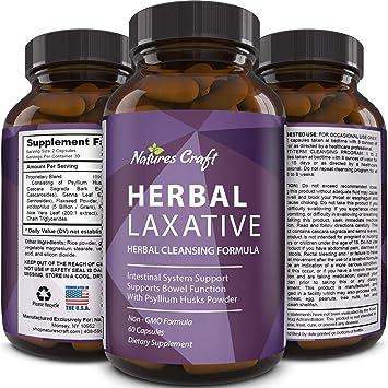 Amazon.com: 100% laxantes de hierbas Cápsulas + Probiotics ...