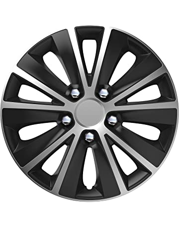 Sakura RAPIDENCBS15 Wheel Trim Universal Fit (Set Of 4), Black, 15 Inch