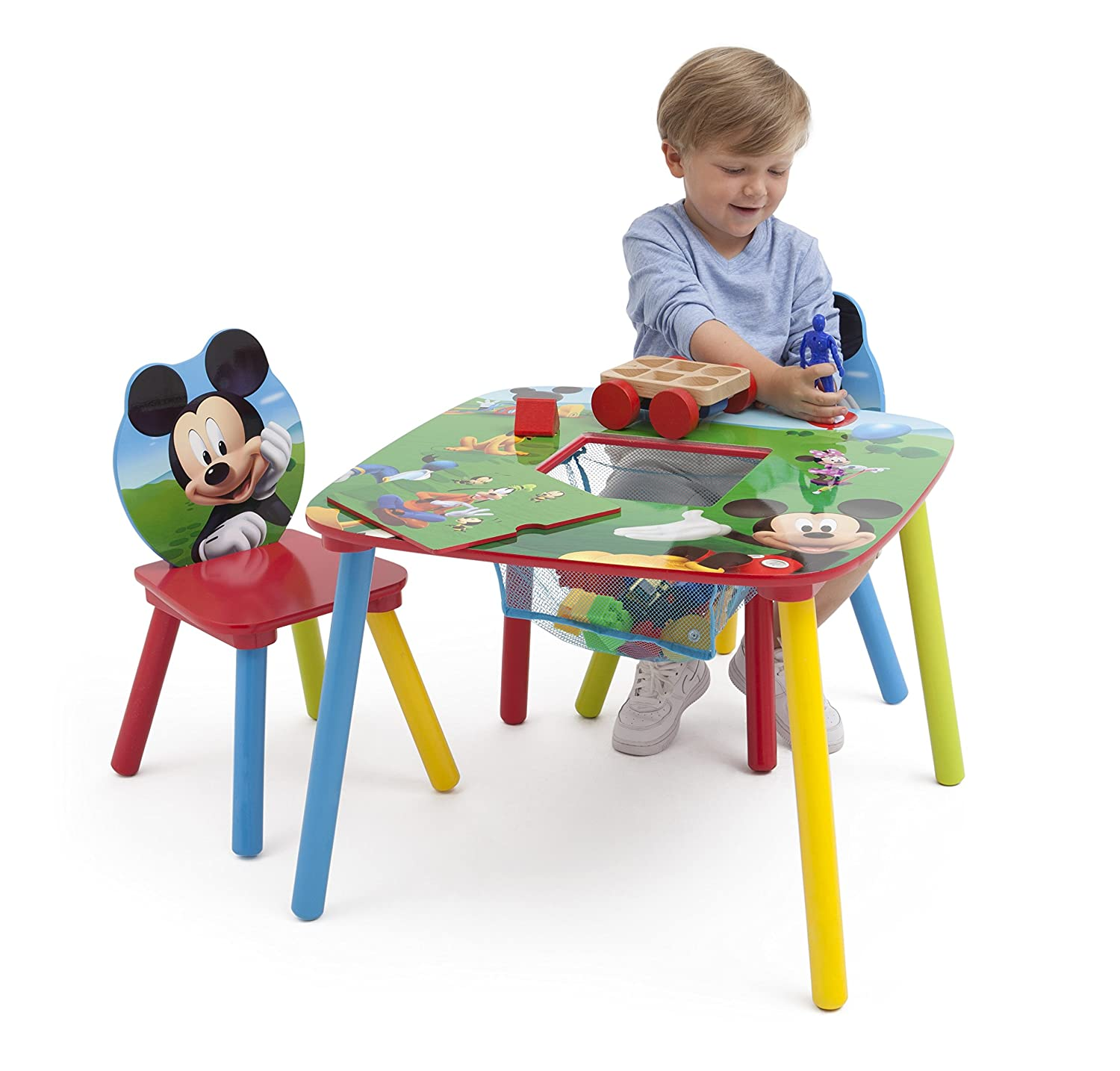 Amazon Disney Mickey Mouse Storage Table and Chairs Set by