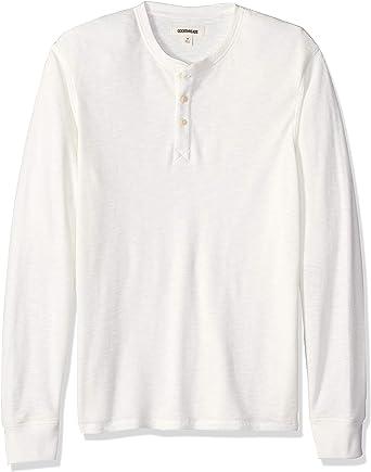 Marca Amazon - Goodthreads - Camiseta térmica flameada de manga larga y cuello Henley para hombre: Amazon.es: Ropa y accesorios
