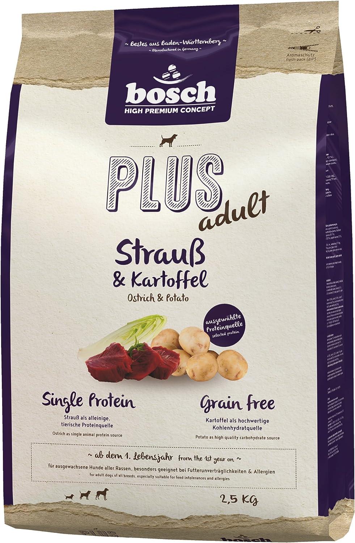 Bosch HPC Plus Avestruz & Patatas | Alimento seco para Perros Adultos de Todas Las Razas | Proteína única | Grain Free