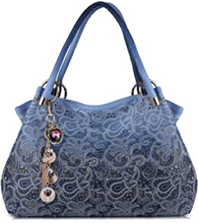 52e39f7ceb Tinksky Tote Handbag Womens Shoulder Bag Casual Signature Printing Pu Leather  Tote