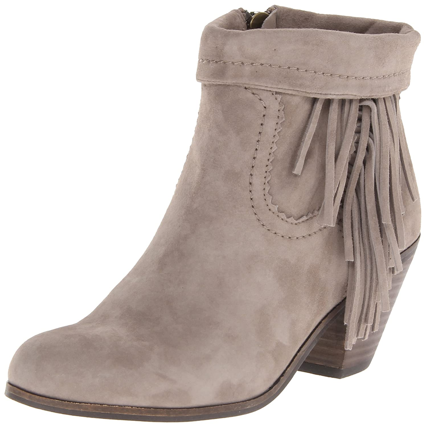 Sam Edelman Women's Louie Fringe-Trimmed Ankle Boot B005LC7Z4Q 11 B(M) US|Tan Suede