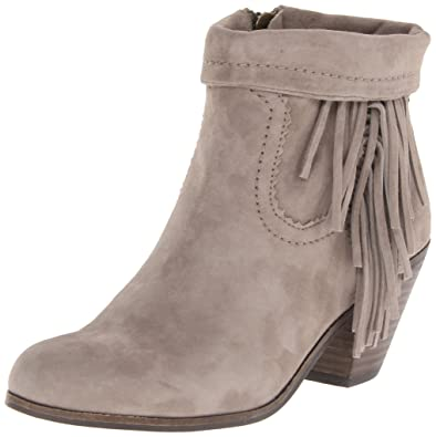 Amazon.com | Sam Edelman Women\'s Louie Fringe-Trimmed Ankle Boot ...