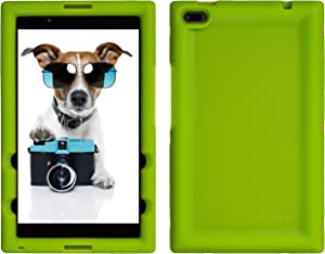 Bobj Rugged Case for Lenovo Tab 4 8 inch only TB-8504F or TB-8504X (NOT for TB-8304F or Plus Model TB-8704) - BobjGear Custom Fit - Patented Venting - BobjBounces Kid Friendly (Gotcha Green)