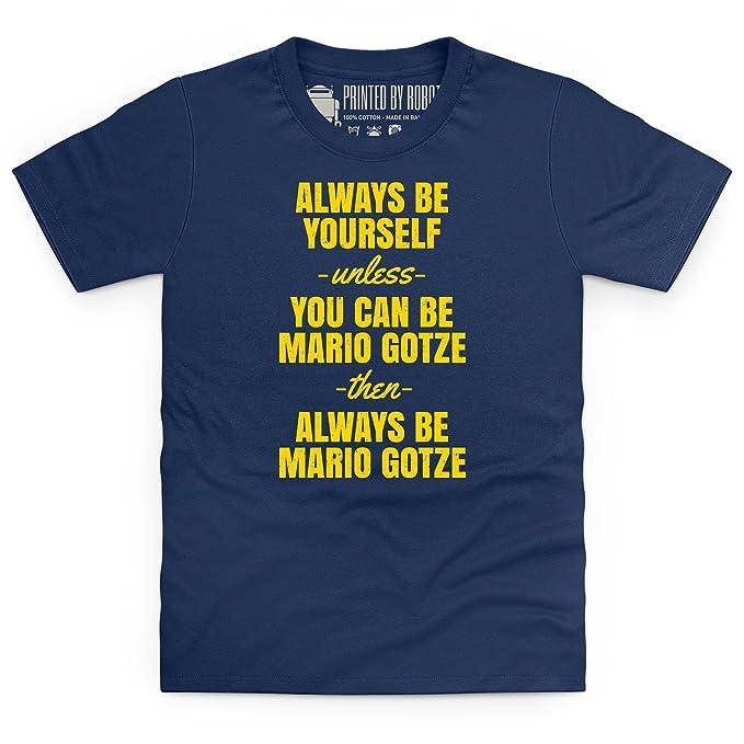 Always Be Mario Gotze Camiseta infantil, Para nios: Amazon.es: Ropa y accesorios