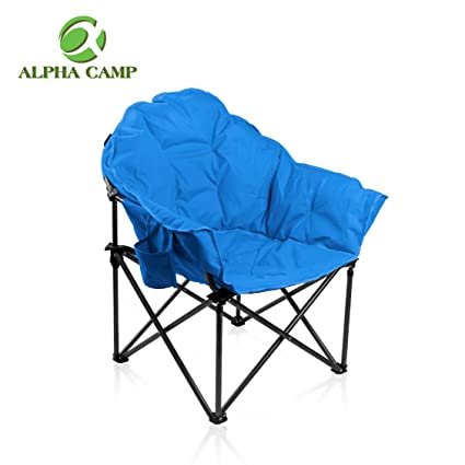 amazon com alpha camp moon saucer folding camping chair cup holder