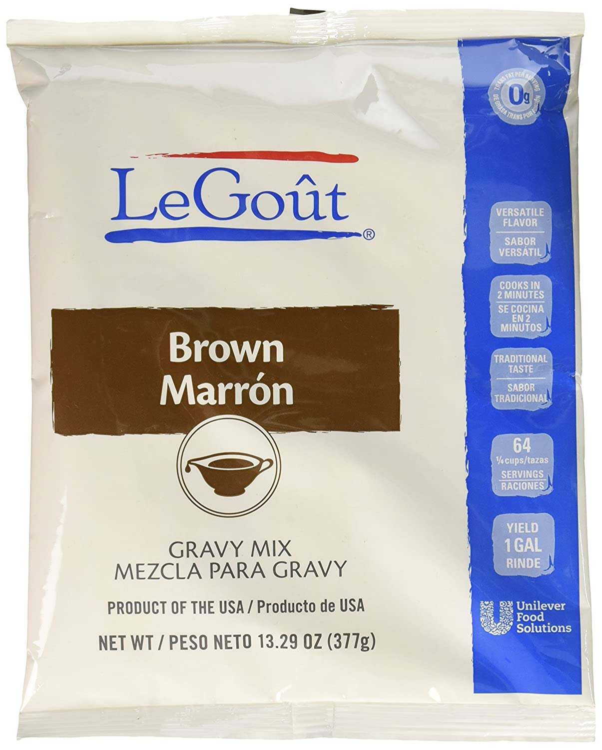 Amazon.com : LeGout Gravy Mix Brown 13.29 oz, Pack of 8 : Grocery & Gourmet Food
