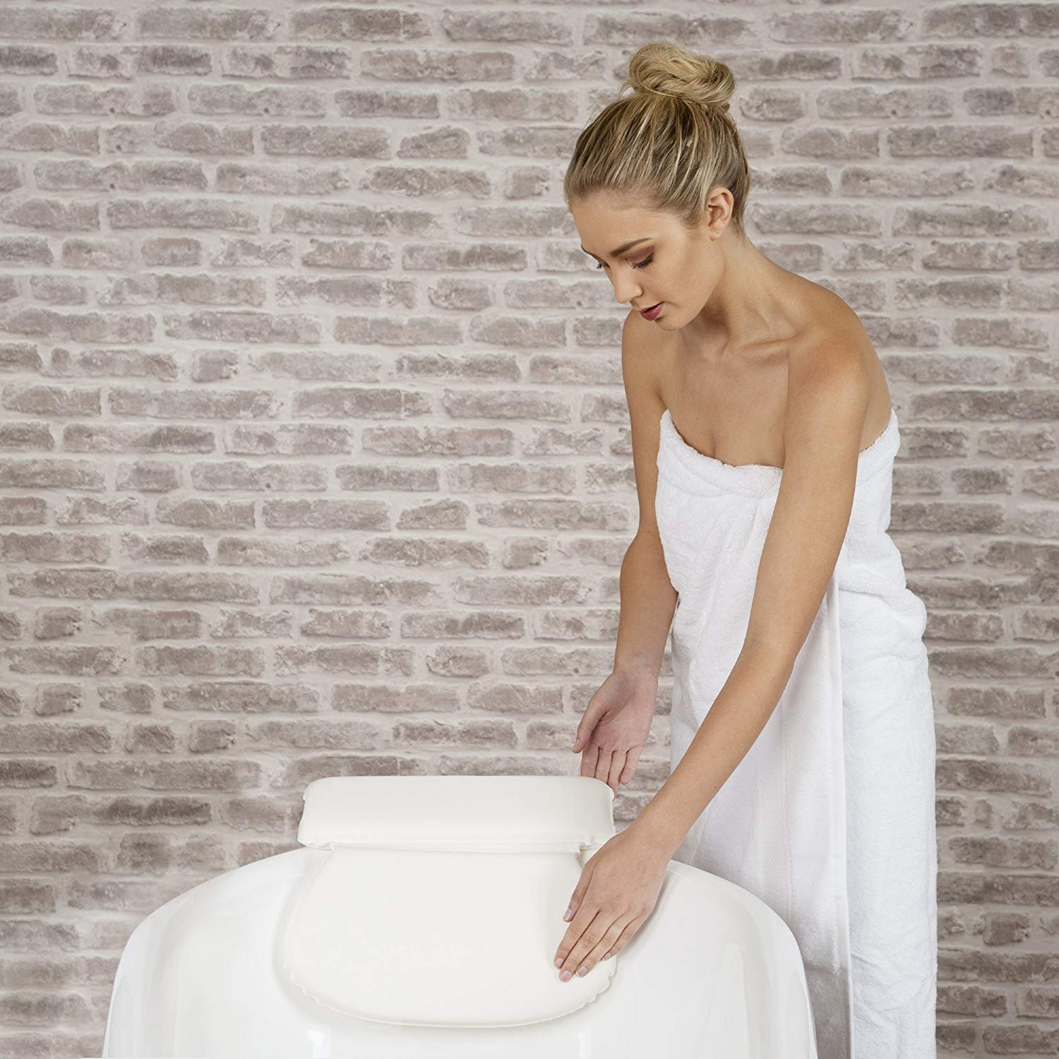 Luxury Spa Bath Pillow with Head Neck Shoulder and Back Support by Bossjoy (Image #6)