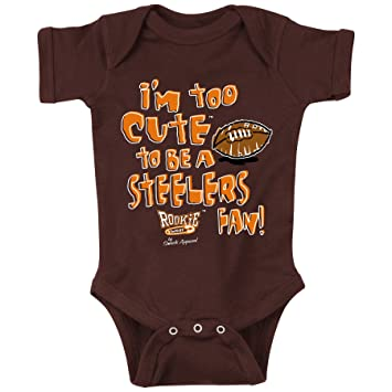 brand new afad1 8c229 Cleveland Football Fans. Too Cute Brown Onesie (6M)