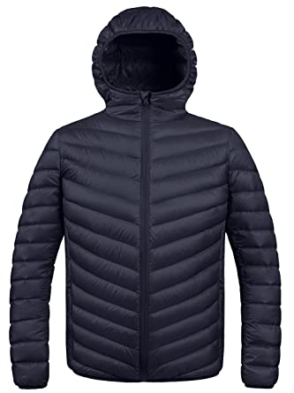 63644afdee8 Amazon.com: ZSHOW Men's Winter Hooded Packable Down Jacket: Clothing