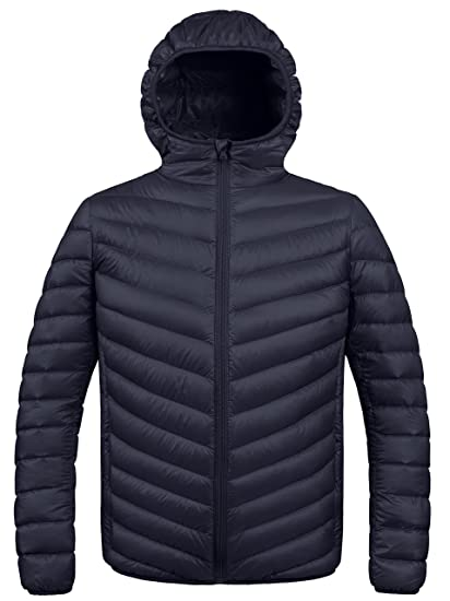 6520a57e7 ZSHOW Men's Winter Hooded Packable Down Jacket