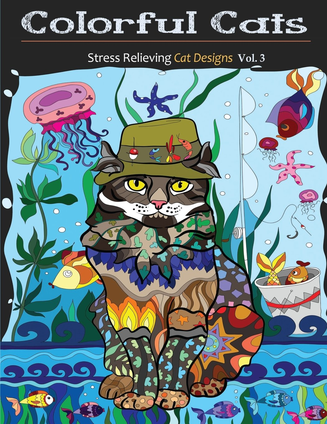 Stress relieving cats coloring - Amazon Com Colorful Cats Stress Relieving Cat Designs Creative Cats Adult Coloring Books Volume 3 9781517444877 Adult Coloring Books Coloring
