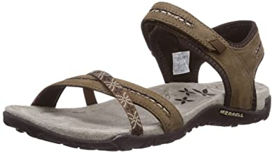 Terran Lattice Ii, Damen Sandalen, Braun (Dark Earth), 42 EU Merrell