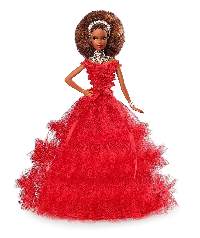 Barbie 2018 Holiday Doll, Brunette Mattel FRN70