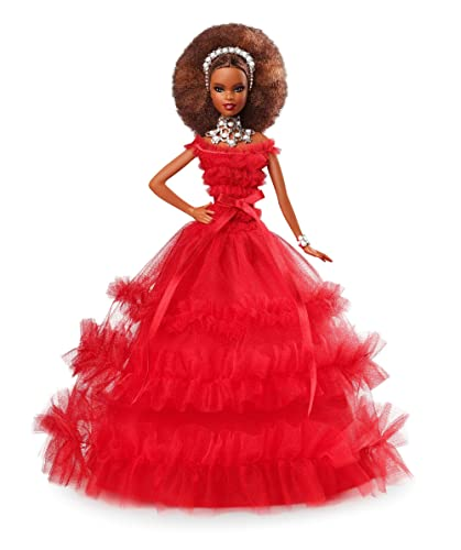 Barbie 2018 Holiday Doll, Brunette