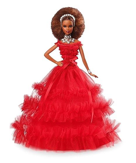 b54772f76 Barbie- Magia delle Feste 2018 Bambola Mora da Collezionare per Natale,  FRN70