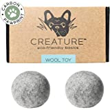 Eco-Friendly Dog Toy 100% New Zealand Wool (Set of 2) All Natural - Handmade - Indoor & Outdoor Play - Safe for Your Pet & The Planet!