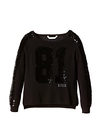 f870dbcca606 Guess Pull Fille Noir (sp)  Amazon.co.uk  Clothing