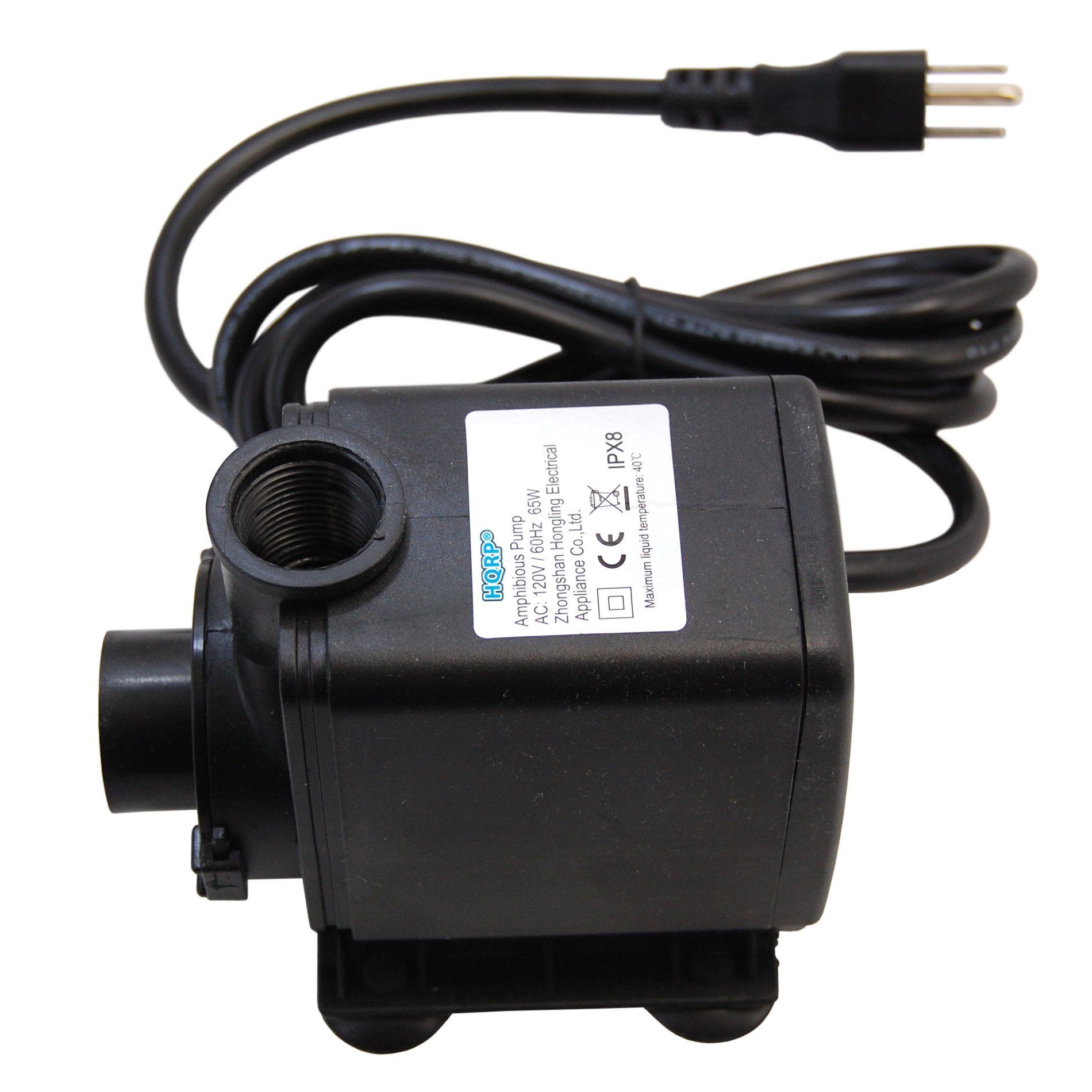 HQRP High Power 3500L/H 925GPH 65W Submersible Water Pump for Aquarium/Fountains / Pond/Statuary / Tanks/Spout and Hydroponic Systems plus UV Meter
