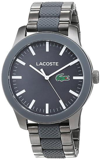 6c990f03af48 Lacoste Reloj Análogo clásico para Hombre de Cuarzo con Correa en Acero  Inoxidable 2010923  Amazon.es  Relojes