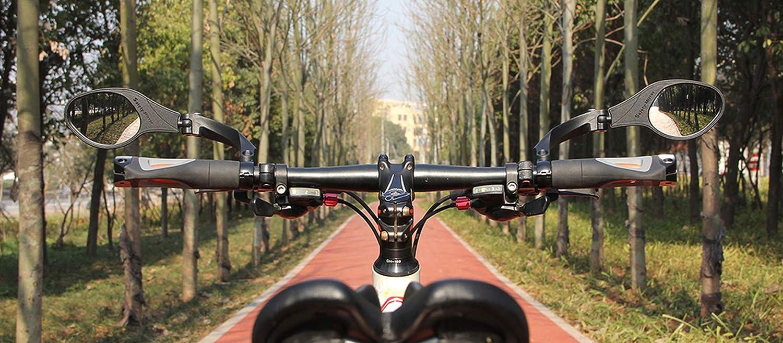 R/étroviseur Cycle R/étroviseur de s/écurit/é ToomLight R/étroviseur VTT V/élo de Route Verre en Acier Inoxydable Guidon V/élo Miroir R/étroviseur V/élo