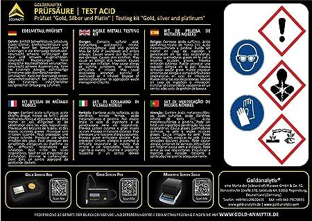 Gold Weiqu Praktisches S/äure-Test-Set f/ür DIY-Schmuckherstellung Teststein-Schmuckwerkzeug-Set Platin Silber
