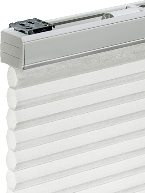 Amazon Com Chicology Cordless Cellular Shades Privacy Single Cell Window Blind 30 W X 48 H Morning Mist Home Kitchen