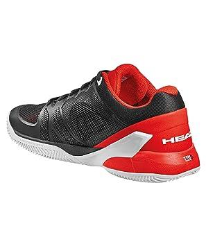 ZAPATILLAS HEAD REVOLT PRO 2.0 CLAY NEGRO ROJO: Amazon.es: Zapatos y complementos