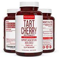 Tart Cherry Extract 1500mg Plus Celery Seed and Bilberry Extract -Anti Inflammatory, Antioxidant Supplement, Uric Acid…