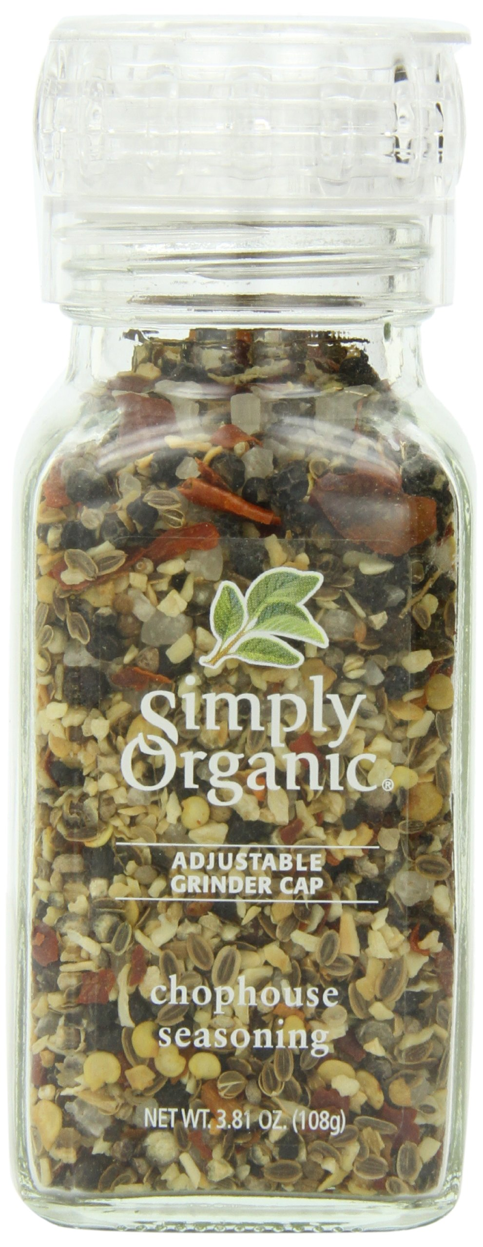 Simply Organic Chophouse Seasoning Certified Organic, 3.81-Ounce Container