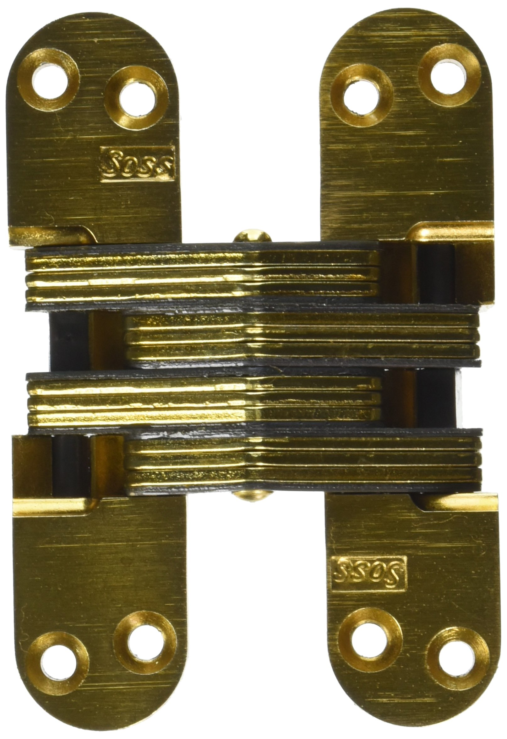 Invisible Hinge for Wood or Metal Application Finish: Satin Brass