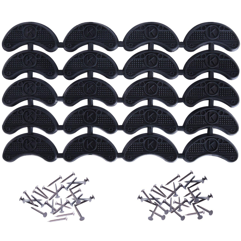 Placas de Talón Tapas de Tacones Reparación de Zapatos Reemplazo de Almohadilla con Clavos, 10 Pares, Negro