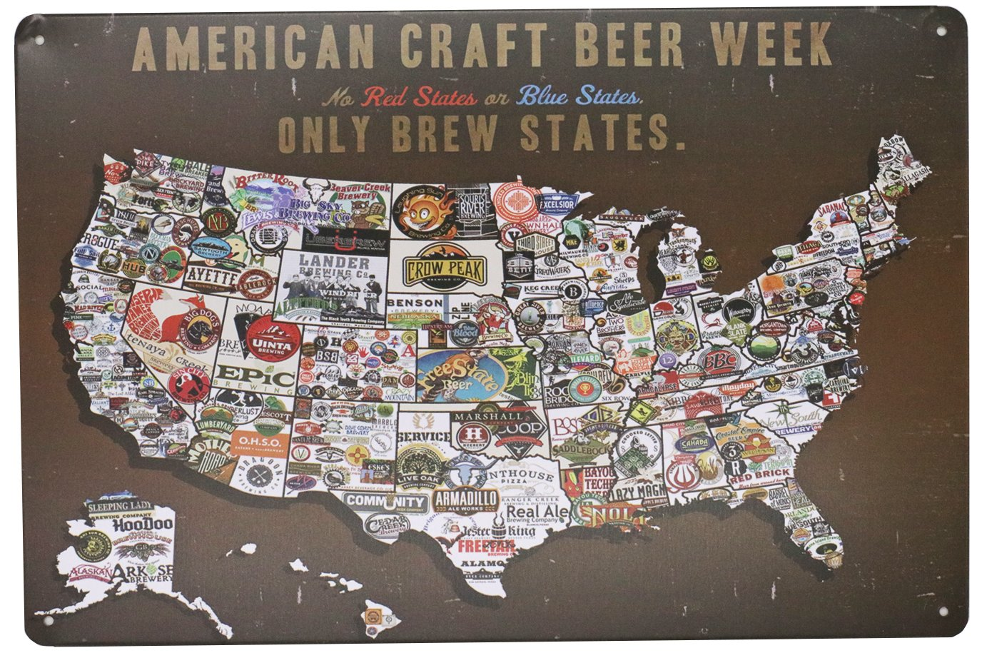 Amazon the sign american craft beer week tin sign 812inch amazon the sign american craft beer week tin sign 812inch home kitchen gumiabroncs