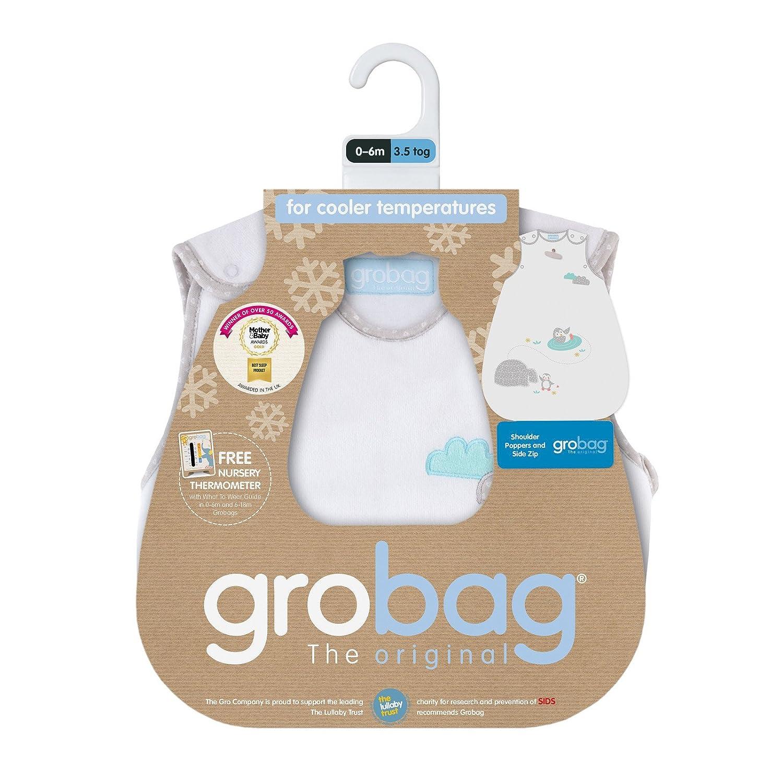 3.5 Tog The Gro Company Playful Penguins Velour Grobag Baby Sleeping Bag 6-18 Months