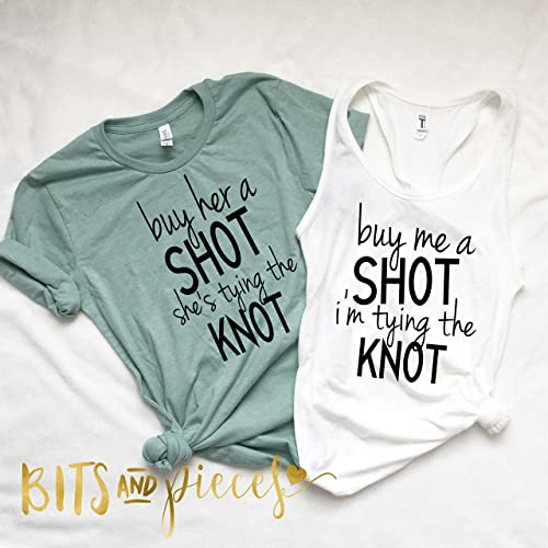 14cc711d504 Amazon.com: Buy Me A Shot Im Tying The Knot | Bridal Shower Gift ...