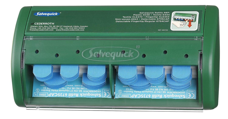 Salvequick dispensador de tiritas detectables, 75 azul estéril: Amazon.es: Salud y cuidado personal