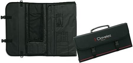 Compra 3 Claveles - Estuche Profesional Porta Cuchillos, Lona Rígida Lavable, con Asa para Transportar, hasta 17 Piezas en Amazon.es
