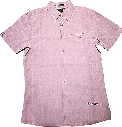 BILLABONG - Camisa, Manga Corta, Hombre. Color: Burdeos. Talla: S: Amazon.es: Ropa y accesorios