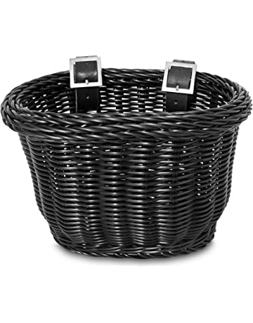 purchase cheap 83656 21cc8 Colorbasket Front Handle Bar Kids Bike Basket, Water Resistant, Leather  Straps