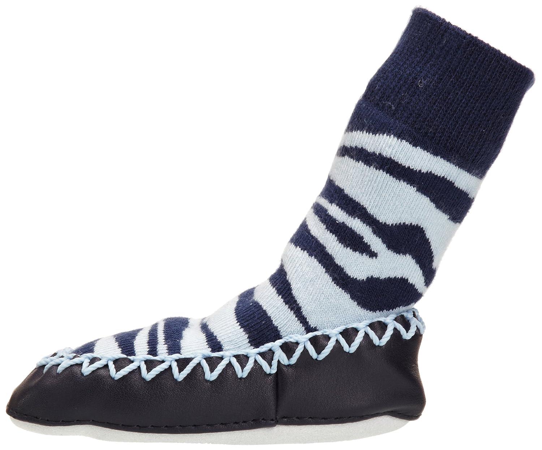 Zebra Stripe Mocc Ons Moccasin Slipper Socks Keeping Little Toes Warm!