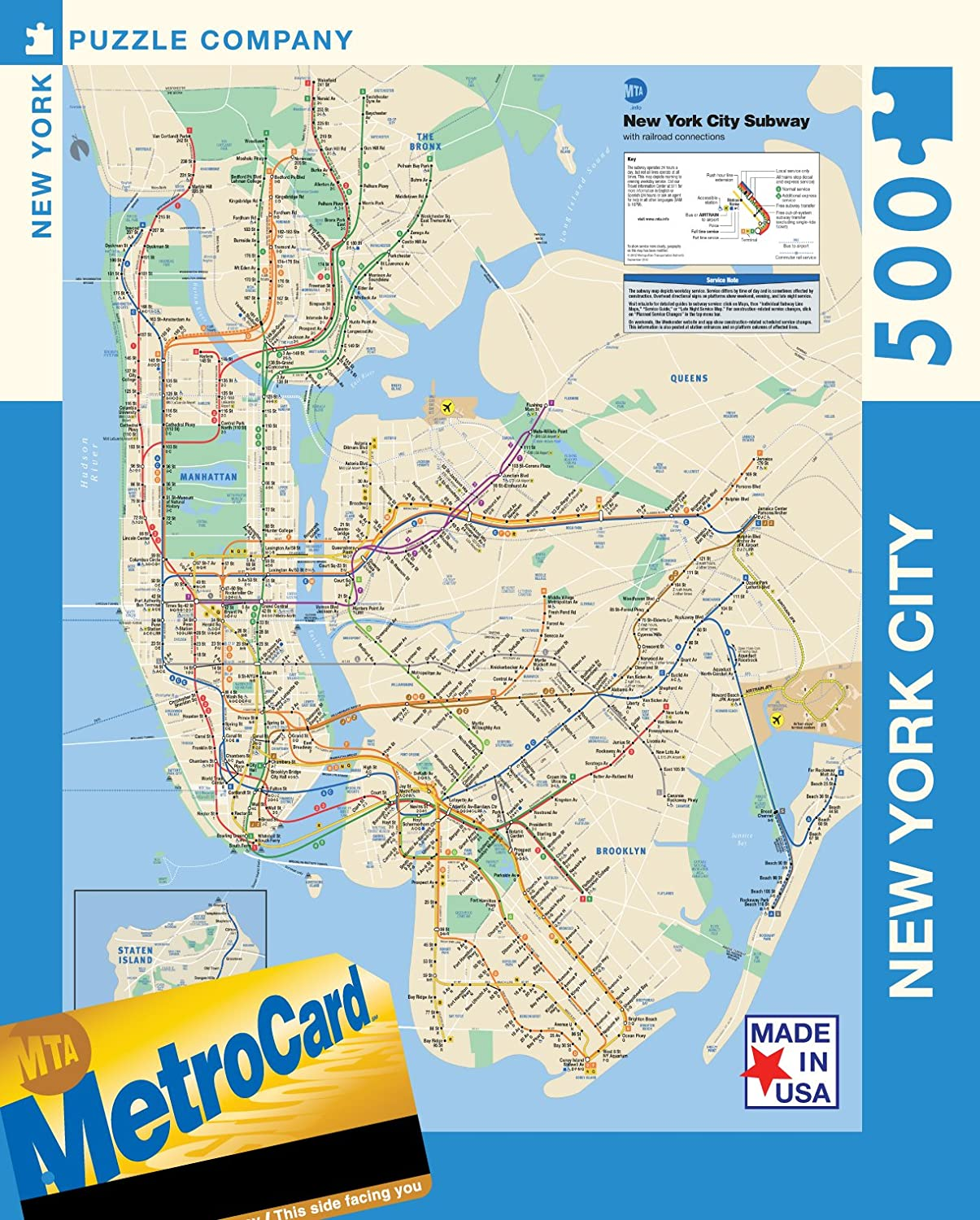 Amazoncom New York Puzzle Company New York City Transit MTA - Nyc map oasis