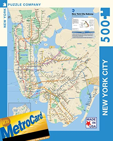 Amazoncom New York Puzzle Company New York City Transit MTA - Usa map new york