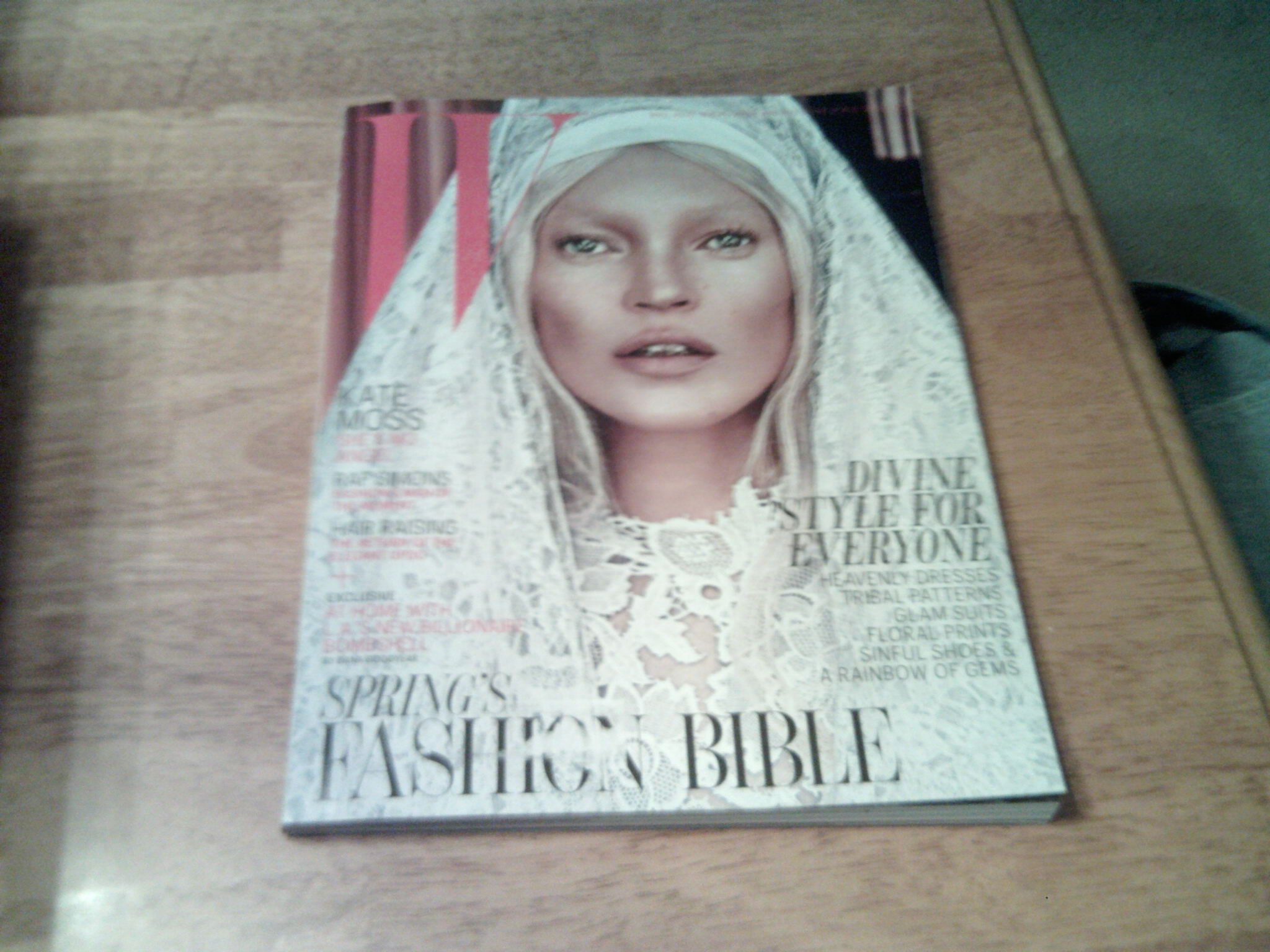 W Magazine March 2012 Kate Moss Spring's Fashion Bible ebook