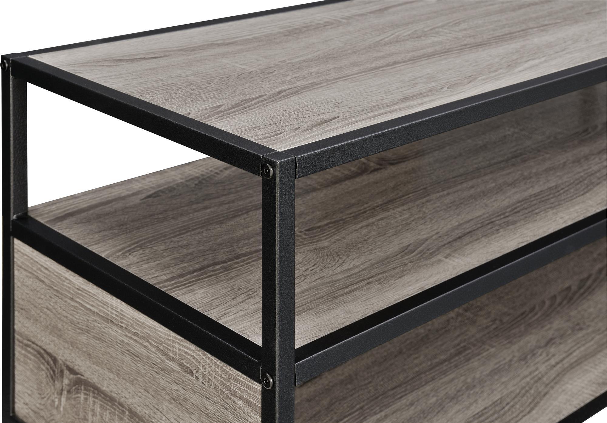 Altra Mason Ridge Mobile 46'' TV Stand with Metal Frame, Sonoma Oak/Black by Altra Furniture (Image #6)
