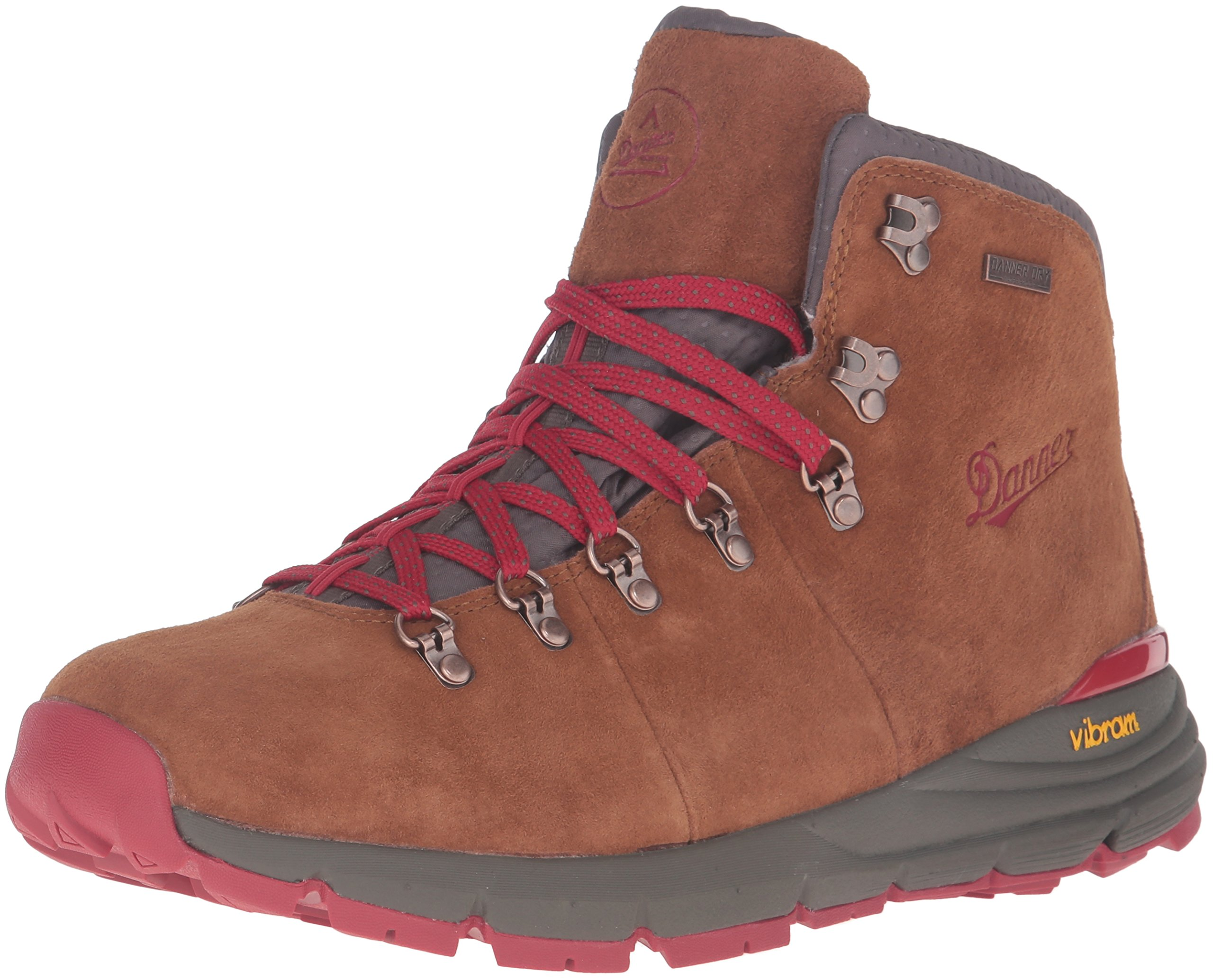 Danner Men's Mountain 600 4.5'' Hiking Boot, Brown/Red, 10.5 D US